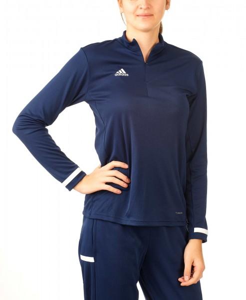adidas T19 1/4 Longsleeve Damen blau/weiß, DY8841