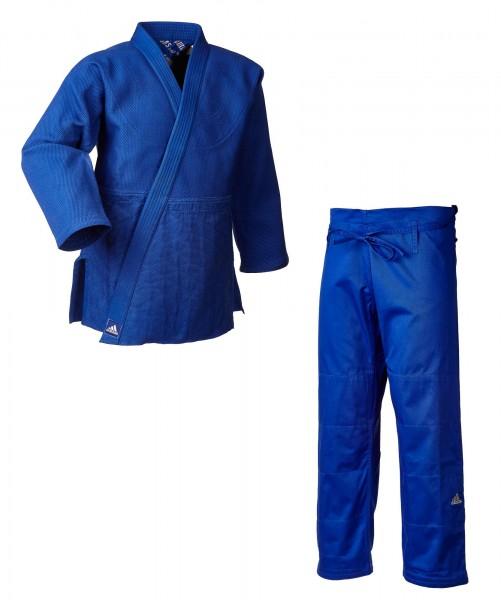 """adidas Judo-Anzug """"Millenium"""" blau/silbernes Logo, J990B"""