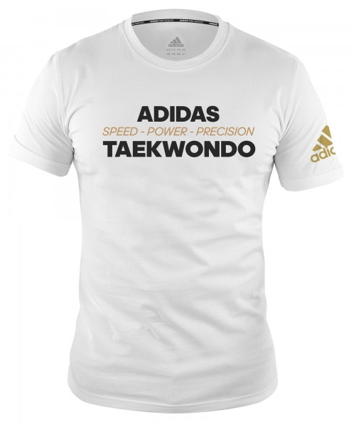 "adidas Community line T-Shirt Taekwondo ""Power"" white, adiTCL02"