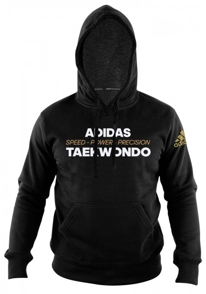 "adidas Community line Hoody Taekwondo ""Power"" black, adiTHL01"