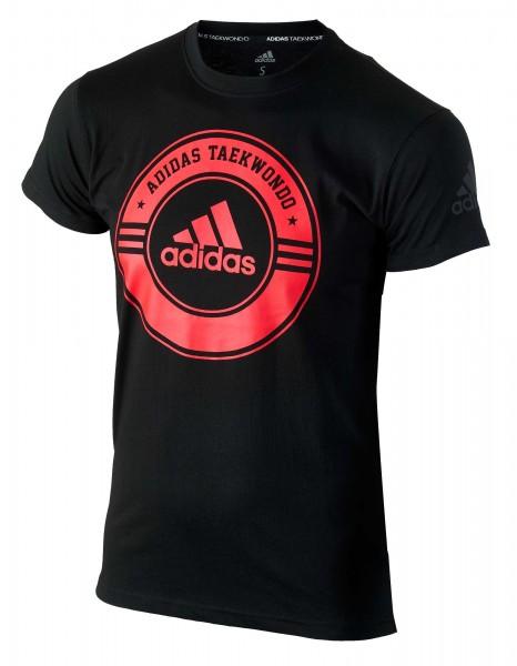 """adidas Taekwondo Community Line Shirt """"Circle"""" black/red, adicsts01T"""