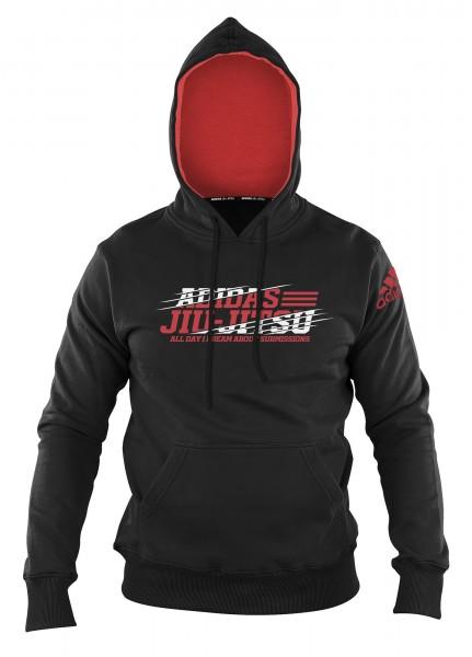 adidas Hoody Jiu-Jitsu black/red, adiCSH03