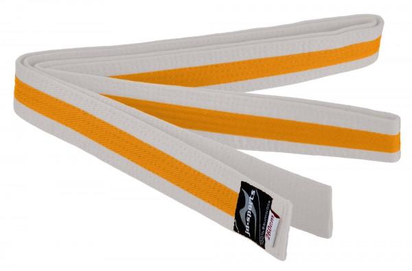 Budogürtel weiß/gelb/weiß