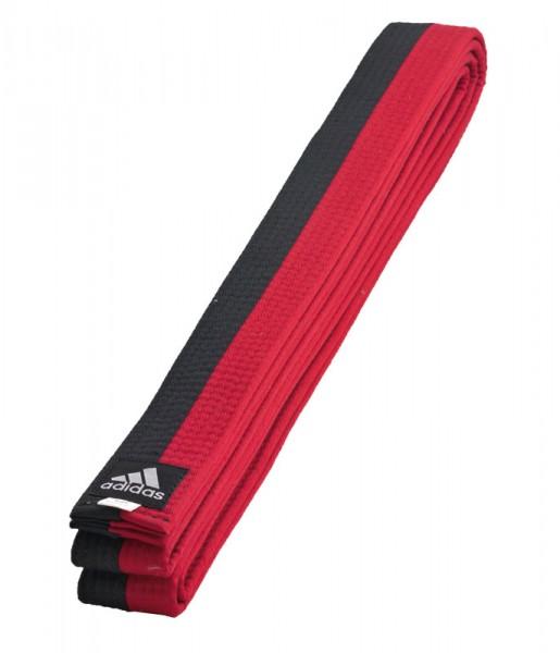 adidas Gürtel schwarz/rot Poomse