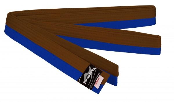 Budogürtel blau/braun (halb/halb)
