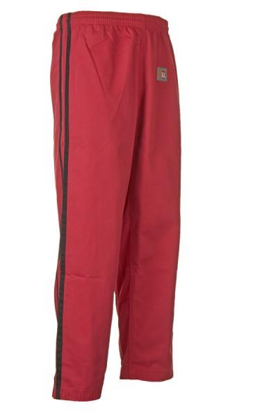 Arnis-Hose rot mit 2 schwarzen Streifen