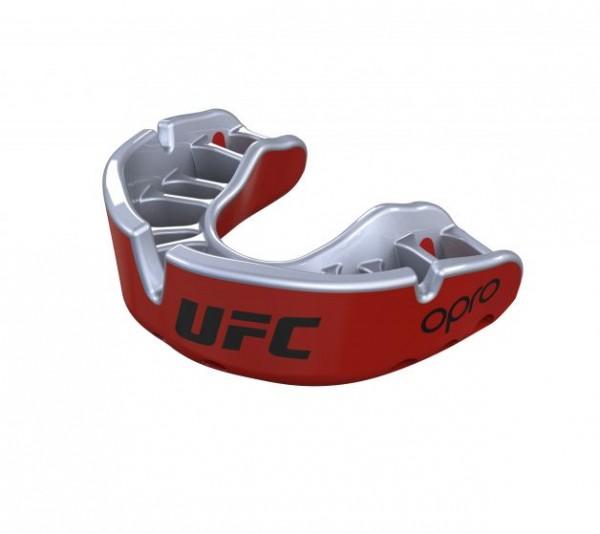 """OPRO """"UFC"""" Zahnschutz Gold Senior red/silver"""