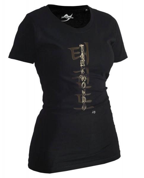 Taekwondo-Shirt Classic schwarz Lady