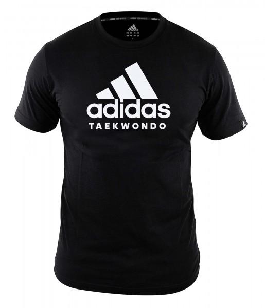 """adidas Community line T-Shirt Taekwondo """"Performance"""" black/white, ADICTTKD"""