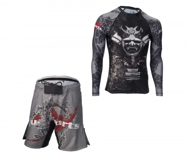 "Dark Line Set ""Kabuto"": Rashguard + Fight Shorts"