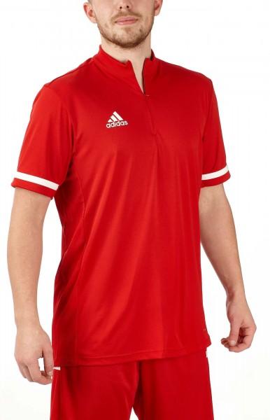 adidas T19 1/4 Shortsleeve Männer rot/weiß, DX7314