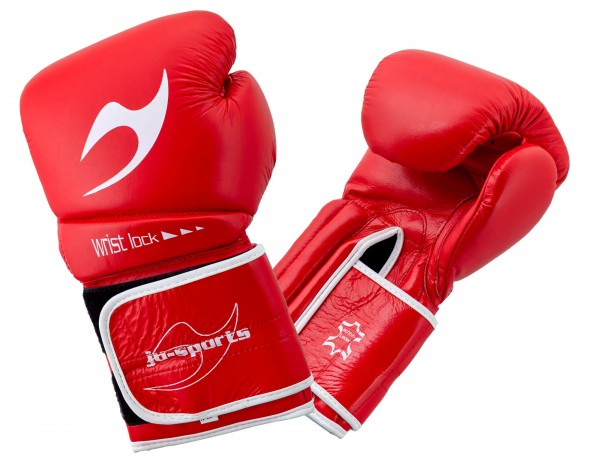 Boxhandschuh C16 Competitor pro Leder rot
