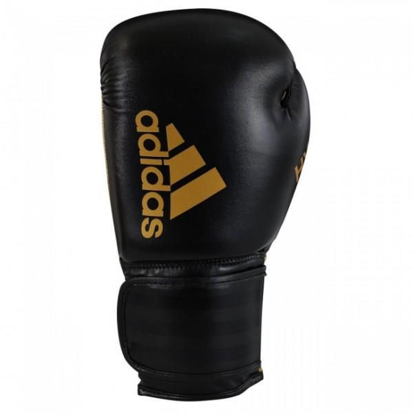 adidas Boxhandschuhe Hybrid 50, schwarz/gold, ADIH50