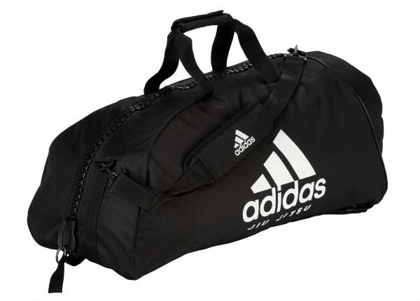 """adidas 2in1 Bag """"Jiu-Jitsu"""" black/white Nylon, adiACC052"""