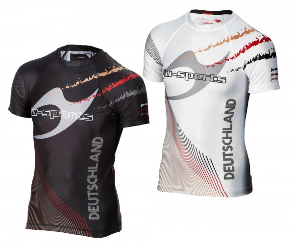 Set - 2 Rashguards Pro C18 Germany weiß & schwarz