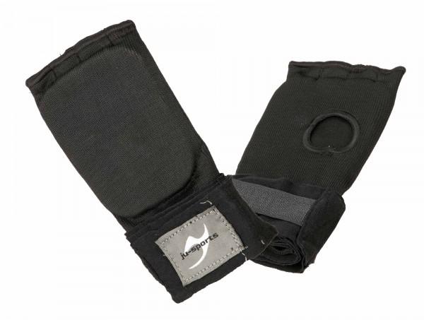 Innen-Boxhandschuhe mit Bandage Senior schwarz