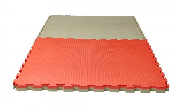 """Puzzlematte Pro """"Tatami"""" 4 cm rot/klassisch grün Wendematte"""