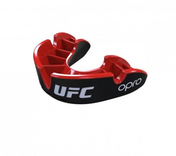 """OPRO """"UFC"""" Zahnschutz Silver - Black/Red, Senior"""