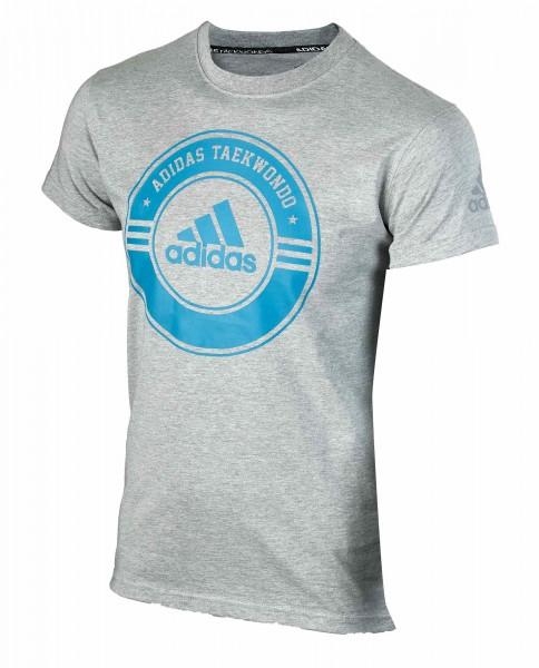 """adidas Taekwondo Community Line Shirt """"Circle"""" grey/blue, adicsts01T"""