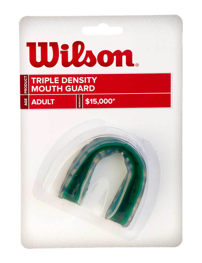 2  Wilson Single Density Mouthguard with Strap protection mouth guard sports two