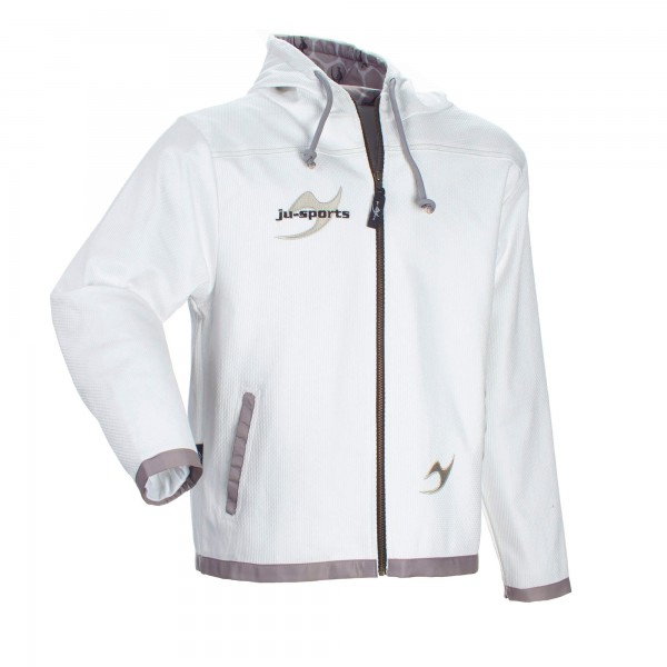 Street-Gi Hooded Zip Jacket white