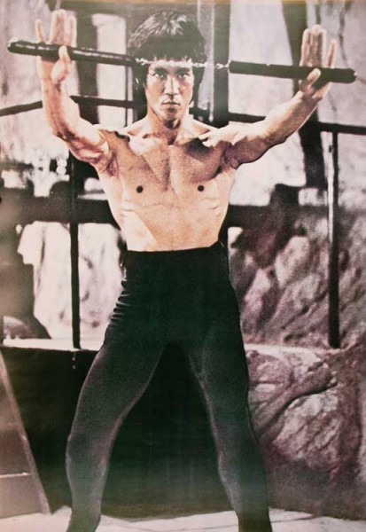 Poster Bruce Lee, Nunchaku