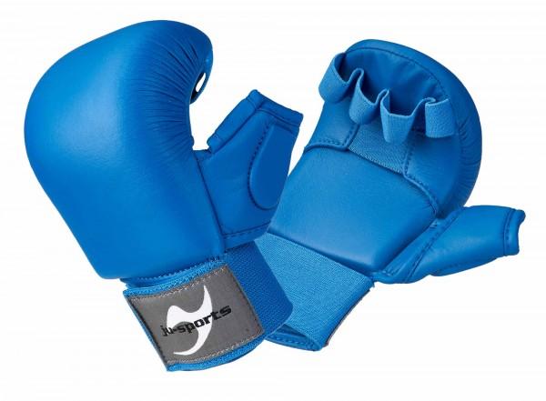 Karate Handschutz blau mit Daumen