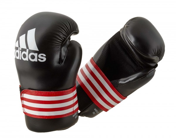 adidas Kick-Boxhandschuhe Semi Contact schwarz/rot, ADIBFC01