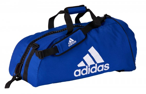 "adidas 2in1 Bag ""Judo"" blue/white cotton L, ADIACC040"