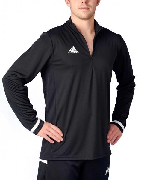 adidas T19 1/4 Longsleeve Männer schwarz/weiß, DW6852