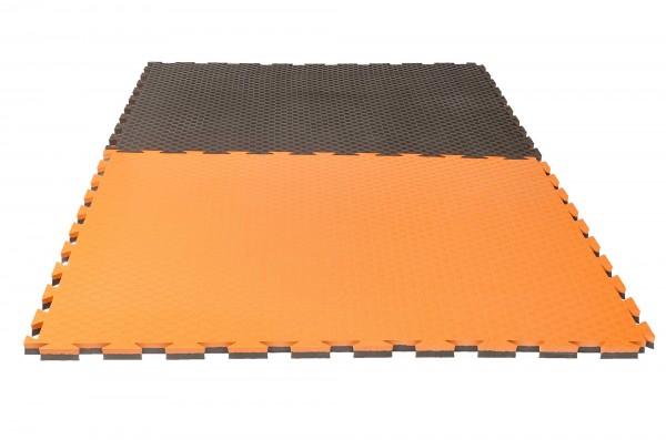 """Puzzlematte Pro """"Checker"""" 2 cm grau/orange Wendematte"""