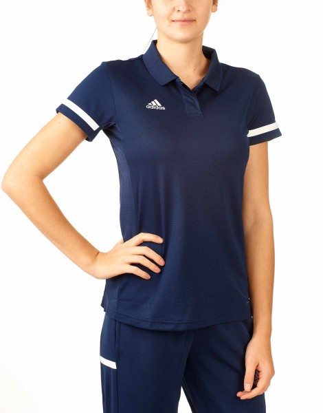 adidas T19 Polo Shirt Damen blau/weiß, DY8863