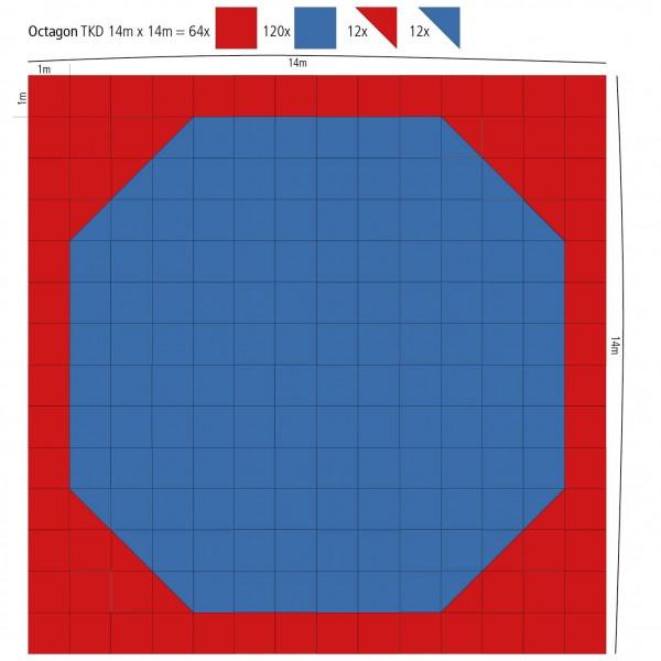 Maxi Oktagon Puzzle-Fläche 14m x 14m - 196 qm