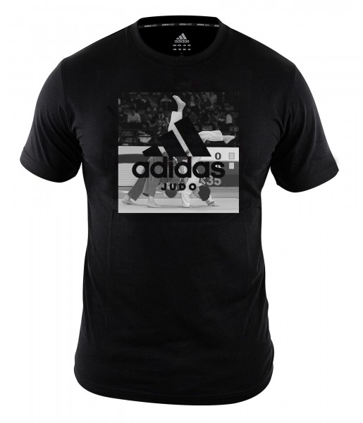 "adidas Community line T-Shirt Judo ""Action"" black, adiJGT02"
