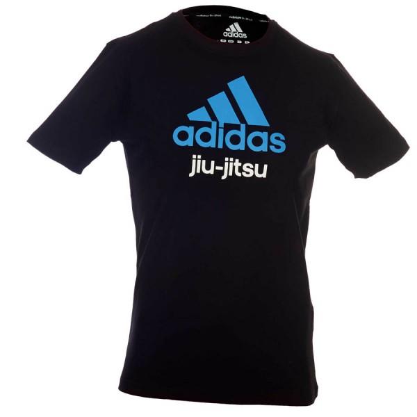 adidas Community line T-Shirt BJJ schwarz/blau
