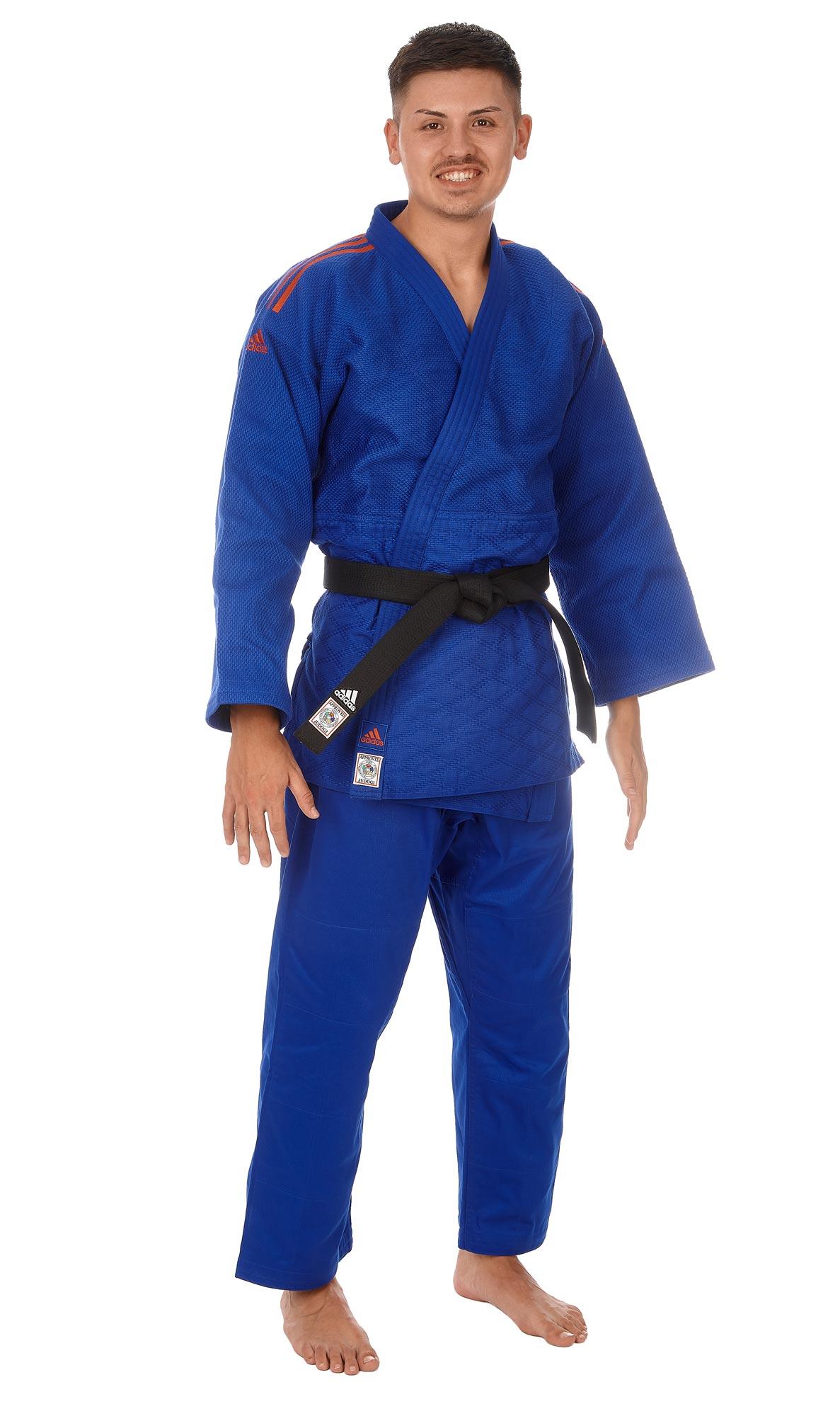 weißschwarze Streifen JIJF,Judo, Adidas Judoanzug CHAMPION