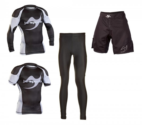 No Gi Superset: Rashguard langarm + kurzarm + Fightshorts + Tights