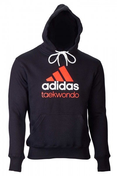 adidas Community line Hoody Taekwondo schwarz/orange