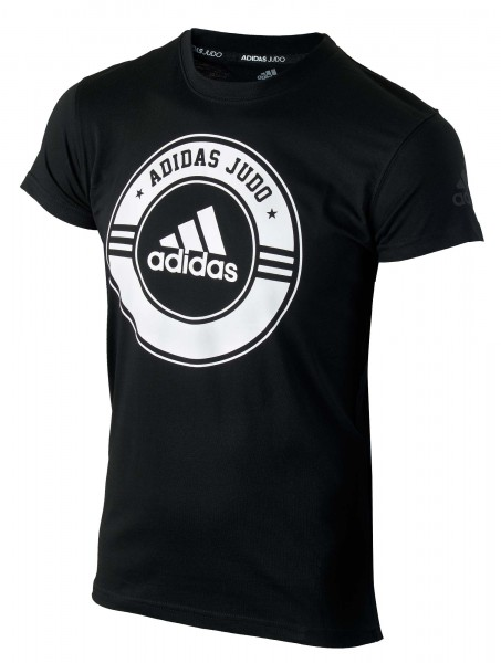 "adidas Judo Community Line Shirt ""Circle"" black/white, adicsts01J"