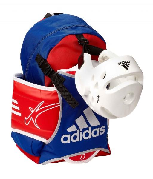 adidas Taekwondo Rucksack mit Westenhalter ADIACC096 red/blue