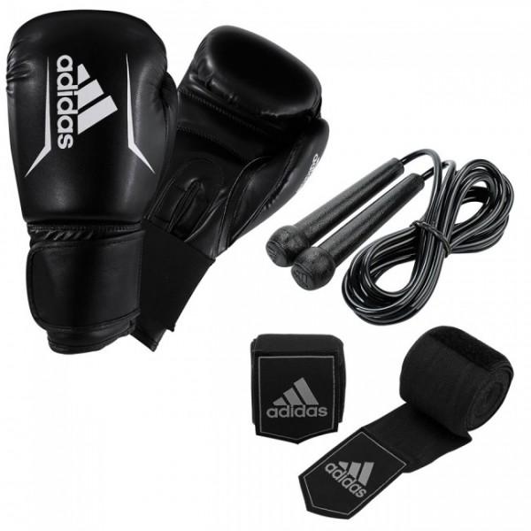adidas Boxing Set - Handschuhe, Seil, Bandagen - ADIBPKIT04