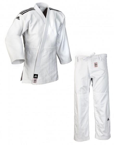 """adidas Judoanzug """"CHAMPION II"""" IJF, weiß/schwarze Streifen, JIJF"""