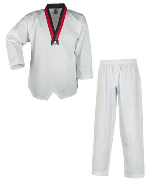adidas Taekwondoanzug Poom, schwarz/rotes Revers