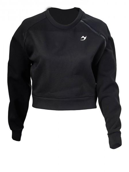Ju-Sports Gym-Line Cropped Sweater black