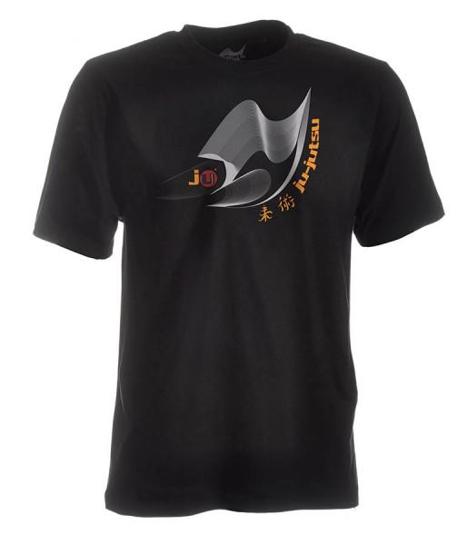 Ju-Jutsu-Shirt Moiré schwarz