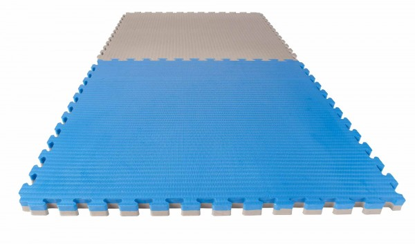 "Puzzlematte Econo ""Tatami"" 4 cm blau/grau Wendematte"