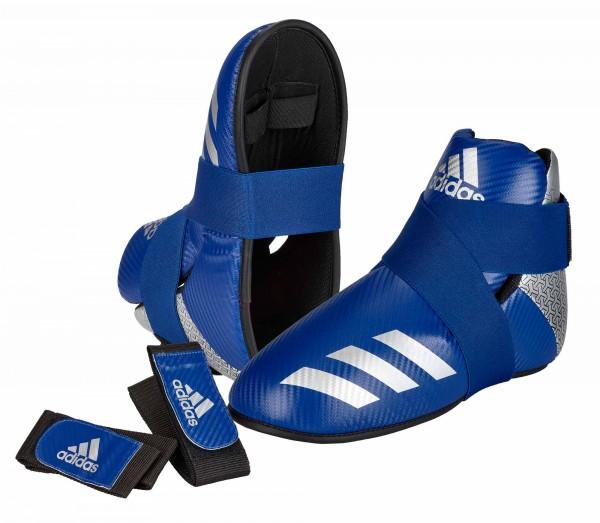 adidas Pro Kickboxing Fußschutz blue/silver, adiKBB300HD