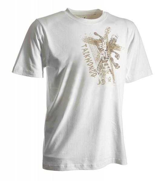 Taekwondo-Shirt Trace weiß