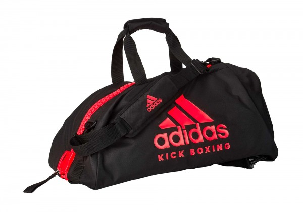 "adidas 2in1 Bag ""Kickboxing"" black/red Nylon M, adiACC052KB"
