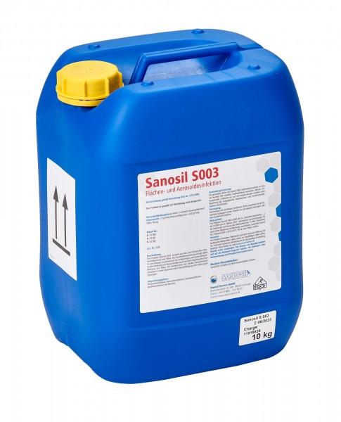(10,00 €/1 l) Sanosil S003, Desinfektionsmittel 10 kg Kanister